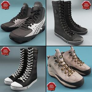 3d winter sport shoes model
