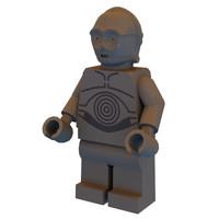 free obj mode c-3po lego