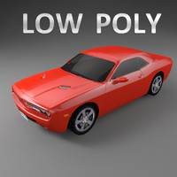 Car Low Polygon Dodge Challenger