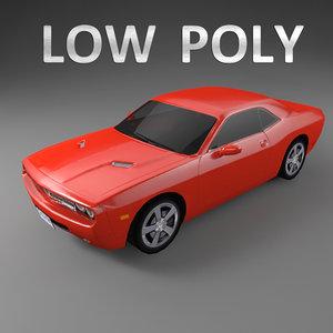 3d model dodge challenger car