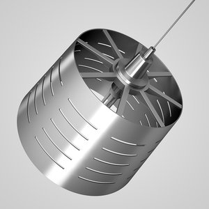 chrome hanging lamp 01 max