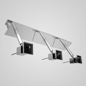 c4d triple halogen ceiling lamp