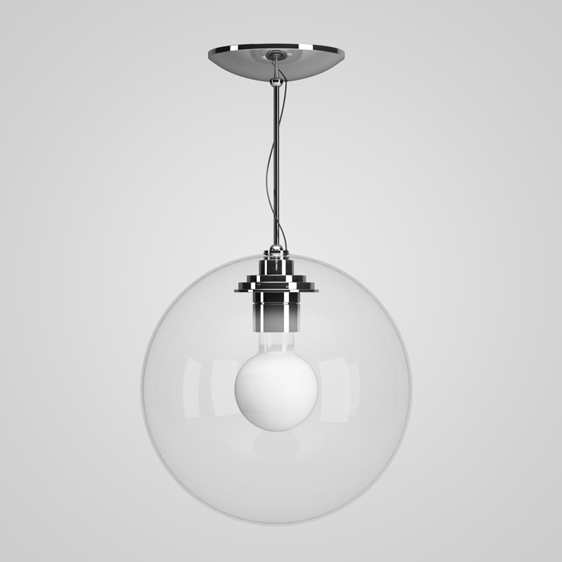 3d model glass ceiling lamp 25