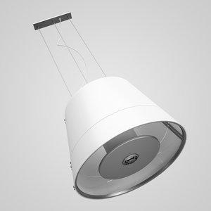 3d model white hanging lamp 28