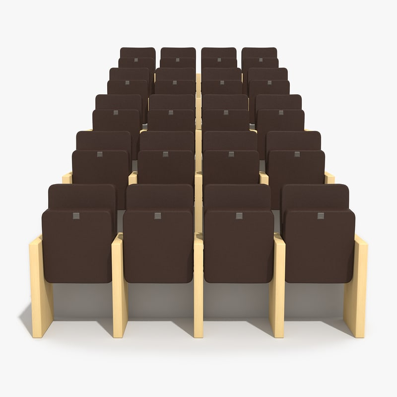 3d model auditorium chairs