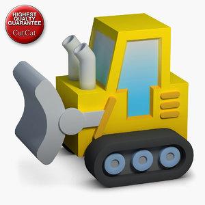 3d construction icons 02 bulldozer