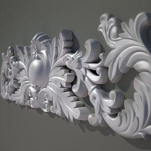 cartouche decorate facades 3d 3ds