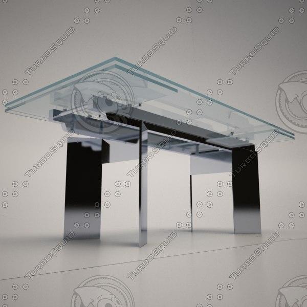 cattelan italia elan dining table 3d 3ds