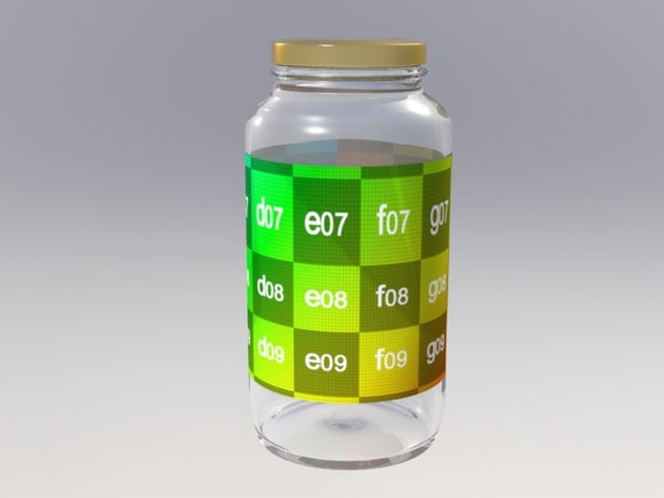 food jar 3d model
