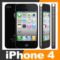 3d apple iphone 4 smartphone