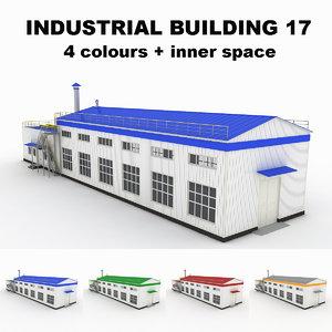 medium industrial building 17 3d model