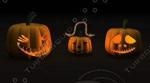 3d halloween jack-o-lantern jack
