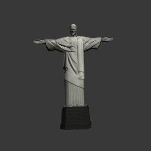 3d jesus statue model