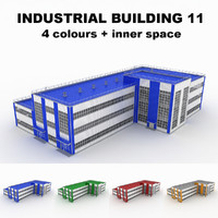large industrial building 11 3d 3ds