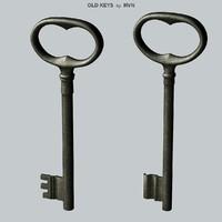 old keys 3d obj