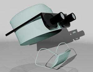 medical face mask 3d 3ds