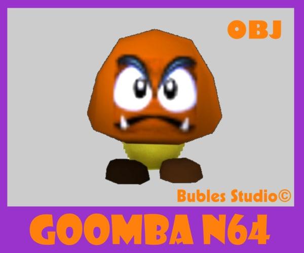 goomba mario 64 obj free