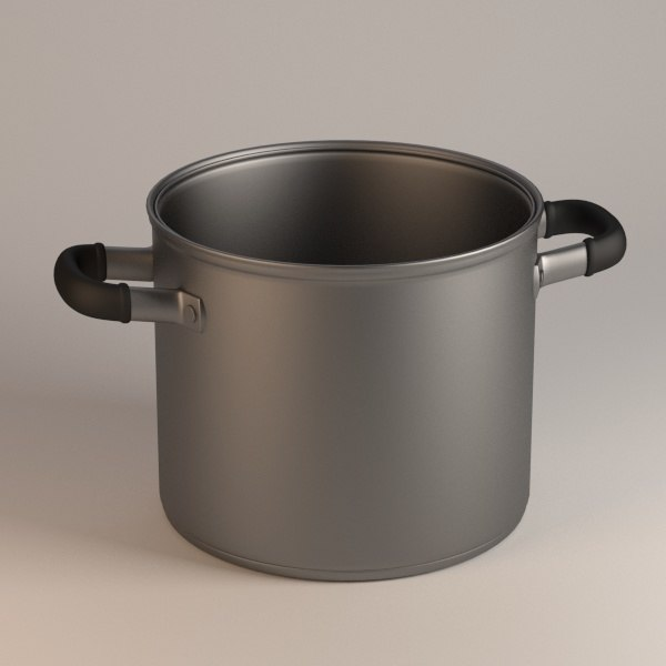 cooking pot 3d 3ds