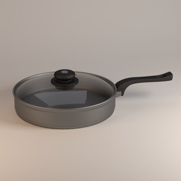 cooking pan 3d 3ds