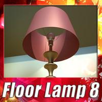 3d modern floor lamp 08 model