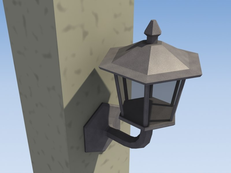 3d wall lantern lighting