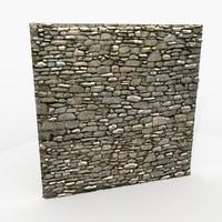 rock wall 3d model