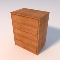 3dsmax drawer wooden dresser