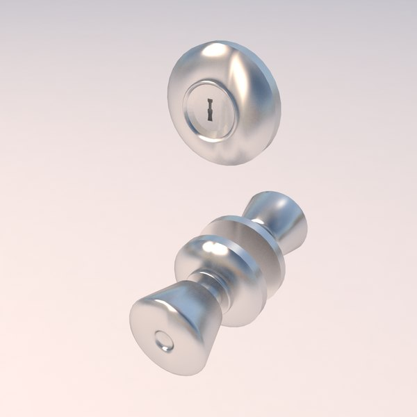 3d max door knob deadbolt
