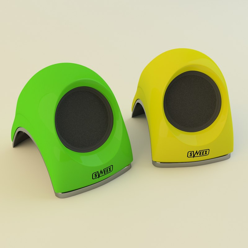 c4d notebook speaker sweex portable
