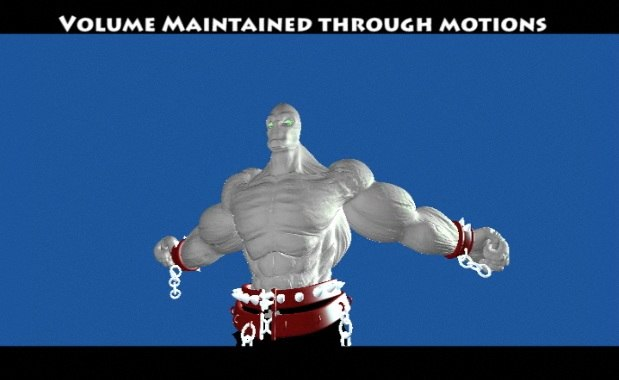 3d model demon rig muscle