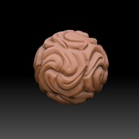 3d model skulpted sphere