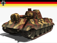 tiger tank wwii kingtigers 3d lwo