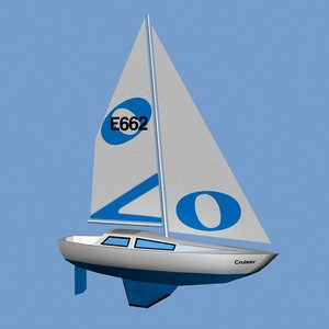 3d yacht sailing boat