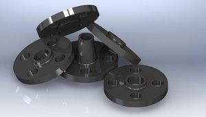 cl 150 forged flanges 3d model