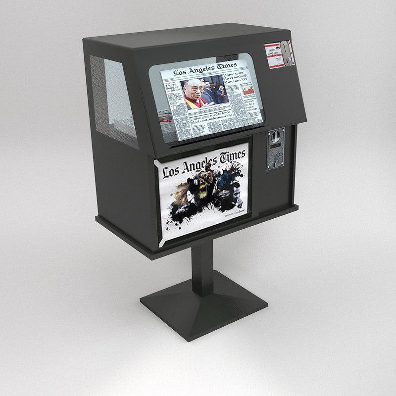 maya newspaper vending machine