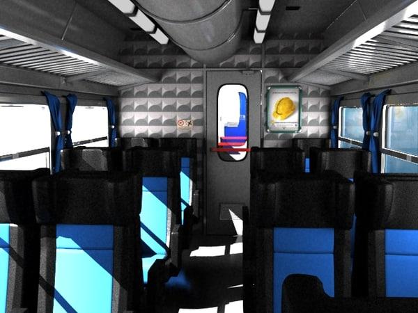 - train interior scene max