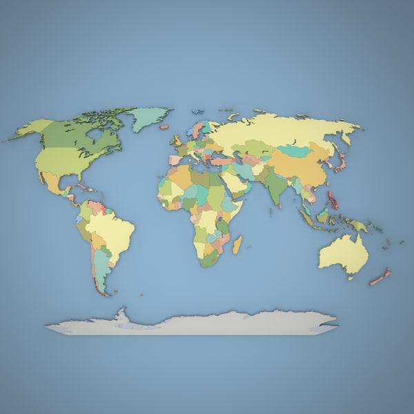 3d model version world globe
