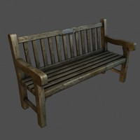 next-gen old low poly bench