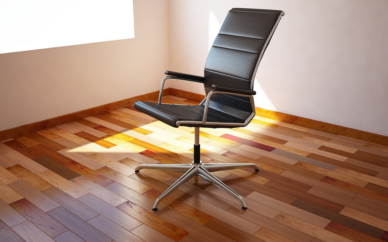 3d realistic office chair model