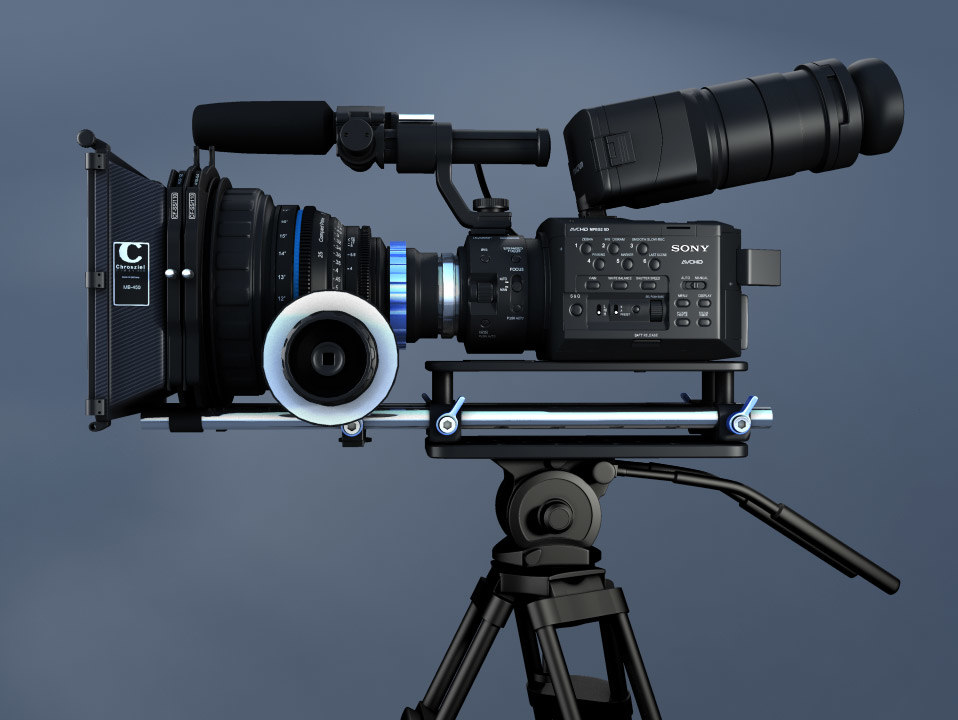 3d model of sony nex fs100