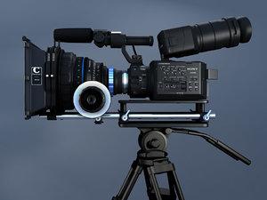 3d model of sony nex fs100