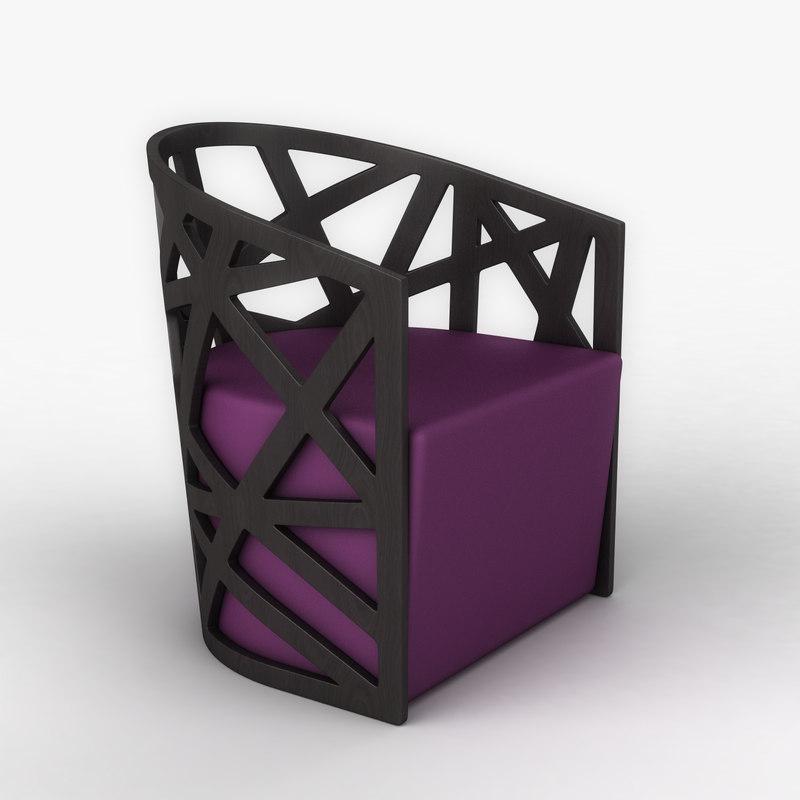3d mazy armchair