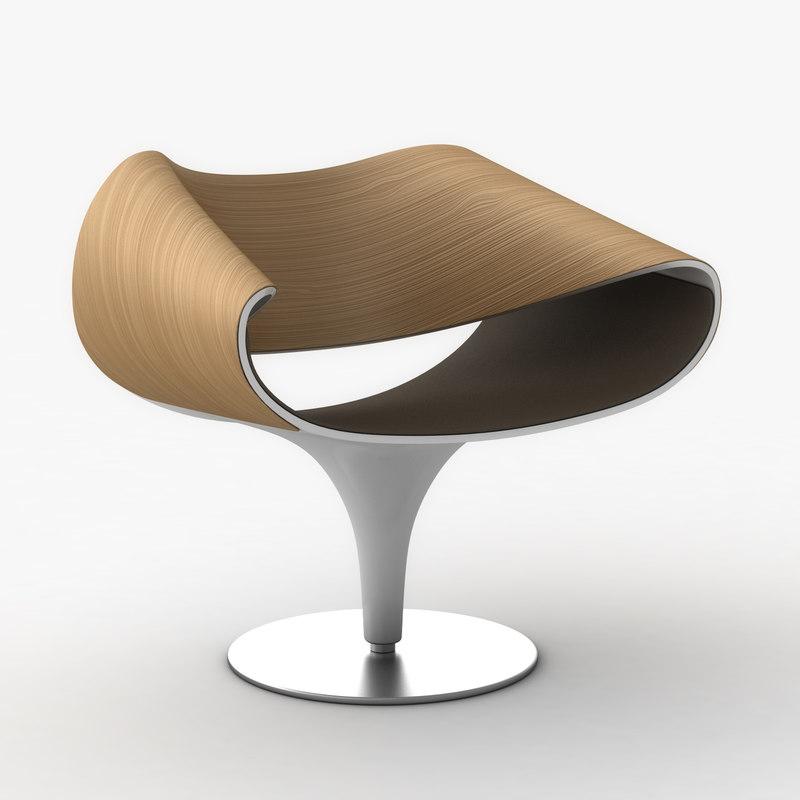 perillo swivel chair 3d model