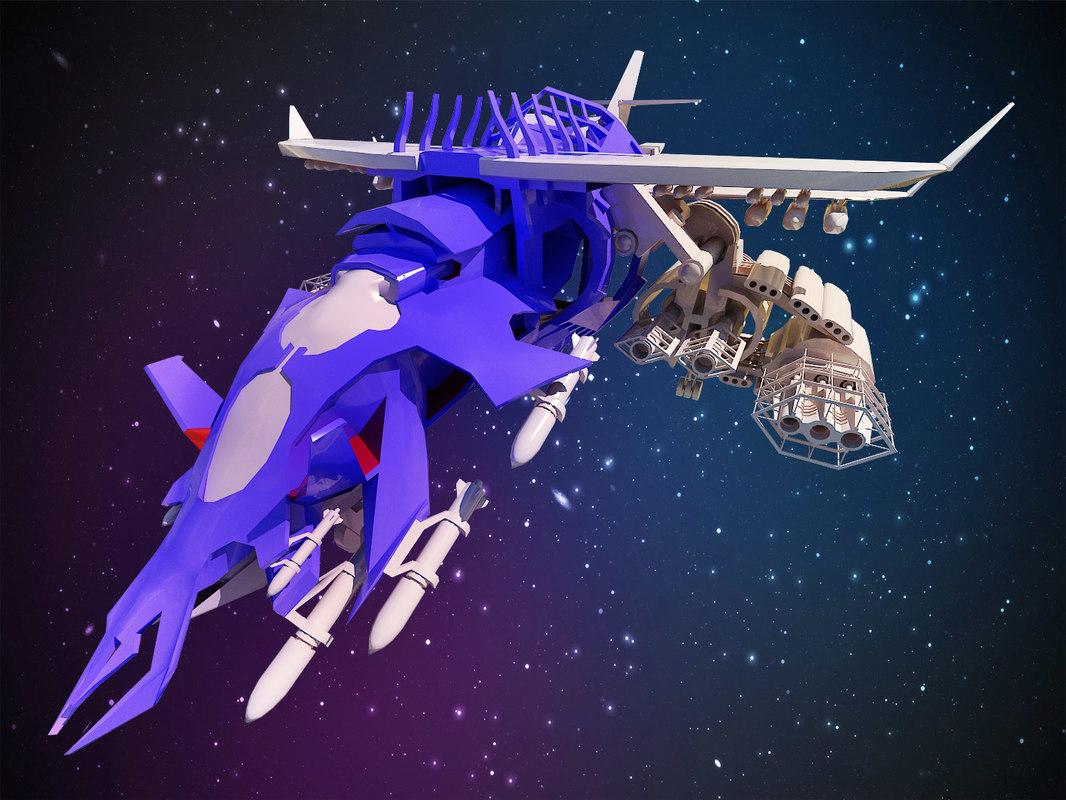 spacecraft space 3d model