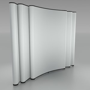 bent folding displays 3d 3ds
