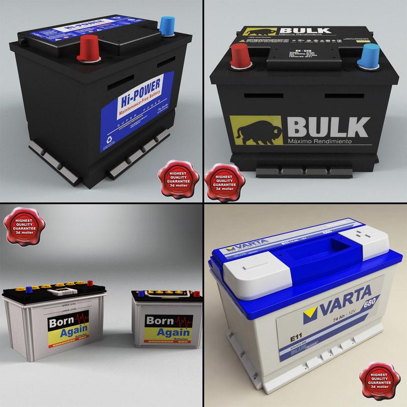 3d car batterys model