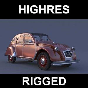 3d french car model