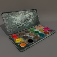 3d model of victorian water colours