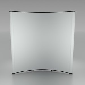 bent folding display 3 3d model