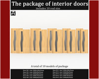 3ds max package interior doors